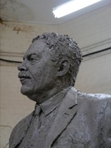 Head of the Gresley statue, work-in-progress
