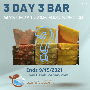 3 day 3 bar mystery grab bag special hazels soapery