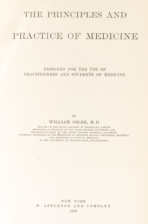 the principles and practice of medicine william osler