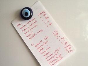 Bevásárló lista