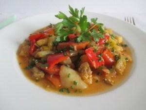 Lecsó mediterrán zöldségekkel