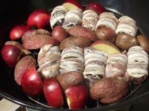 Grillezett ételek csirkemáj rostélyon