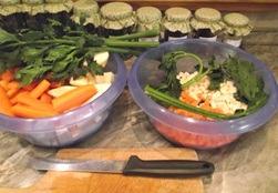 Leveszöldségek eltevése - Feldarabolt zöldségek