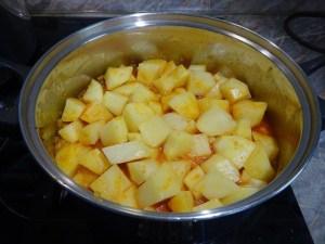 Krumpli hozzáadása