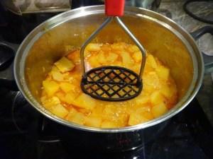 Krumpli összetörése