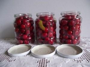 Cseresznyék üvegben