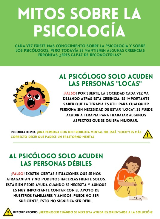 mitos sobre la psicología