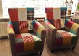 kleuren stoel fauteuil patchwork alkmaar