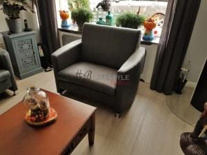 Aparte fauteuils moderne loveseat 1.5 zitbank