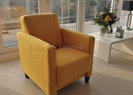 Aparte fauteuils geel