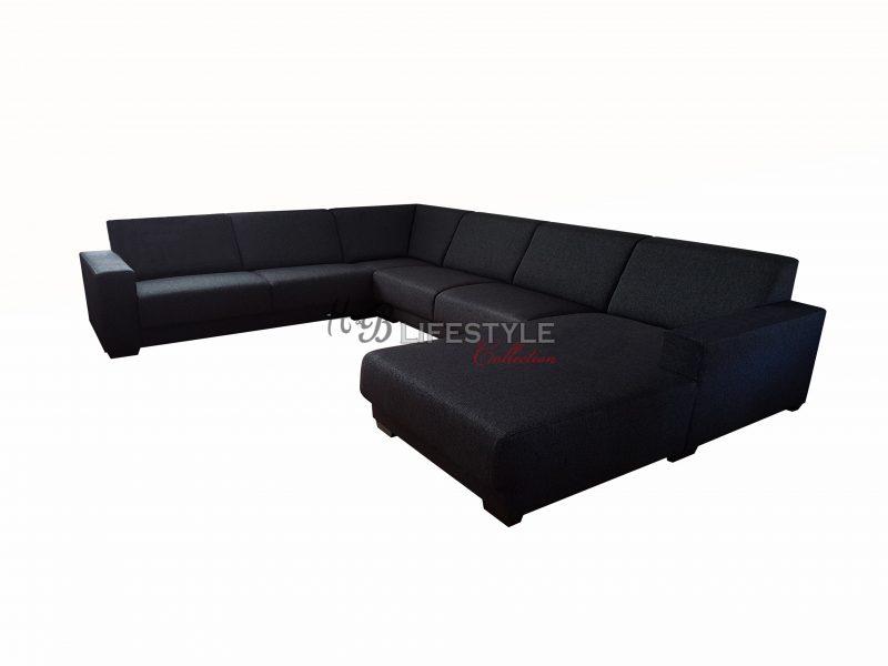 Loungebank Stof Zwart.Hoekbanken Hb Lifestyle Collection