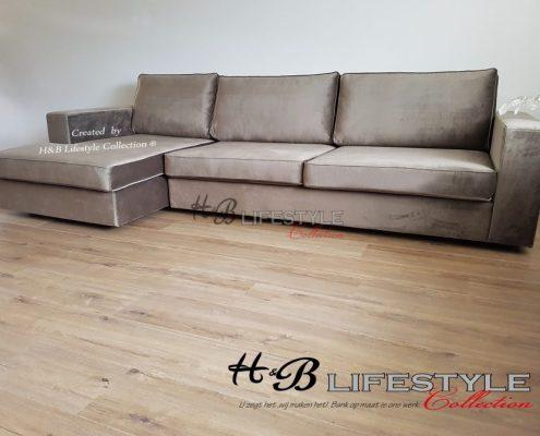 Eric Kuster style velours lounge bank