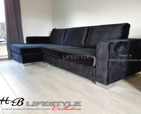 Velours lounge bank Eric Kuster style