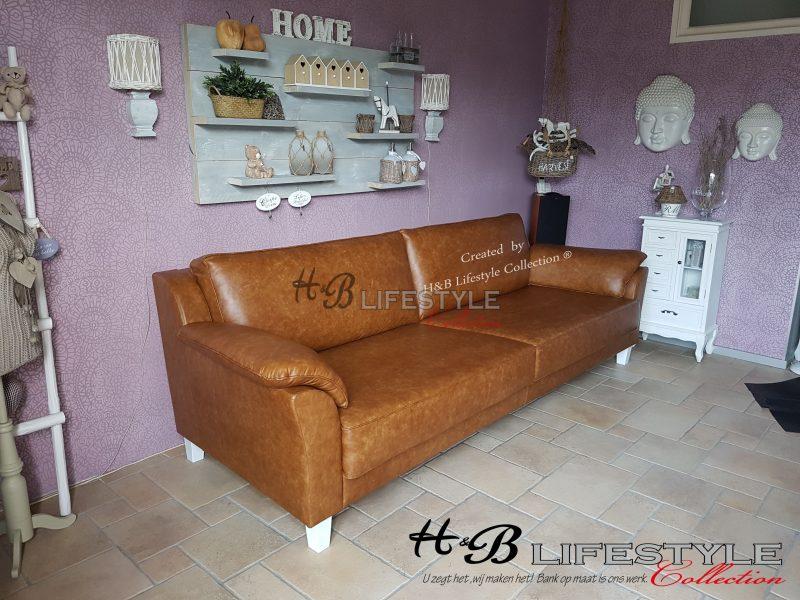 4 zits bank leer cognac 3 meter palermo hb lifestyle collection
