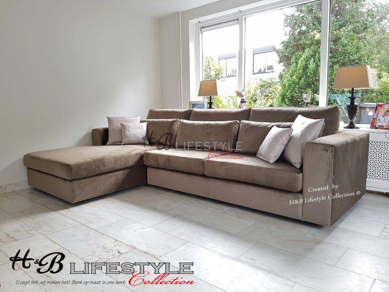 Goede zachte-en-diepe-bank-lounge-fluweel-bruin - HB Lifestyle Collection OD-57