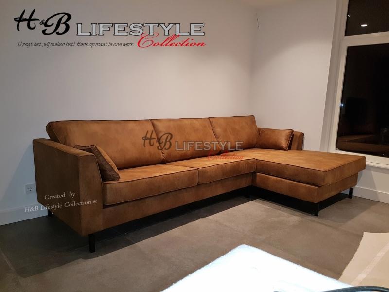 Hoekbank Met Loungedeel.Bank Voor Lange Mensen Met Lounge Deel Model Murano Cognac