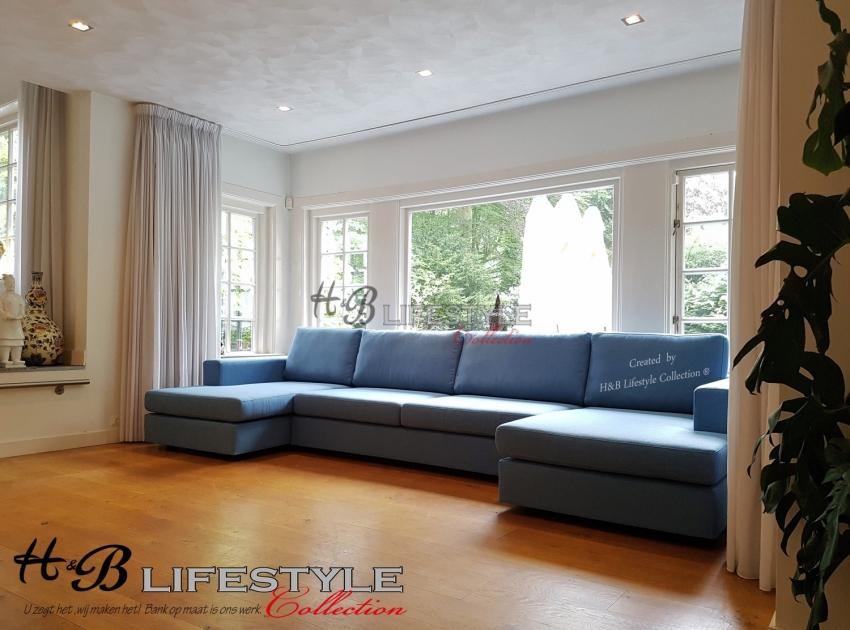 Hoekbank Met Loungedeel.Longchair Bank Op Maat Model Milano U Vorm Met 2x Loungedeel