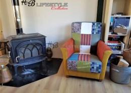 Patchwork fauteuil 11 kleuren