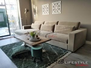 luxe velours bank met lounge