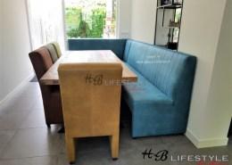 eetkamerbank met bijpassende stoelen