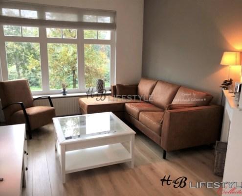 lounge bank met hoge zithoogte