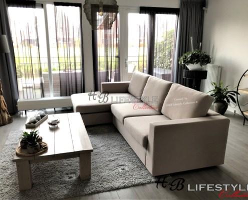 Zachte en diepe lounge bank