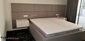 Luxe slaapkamer wandpanelen op maat