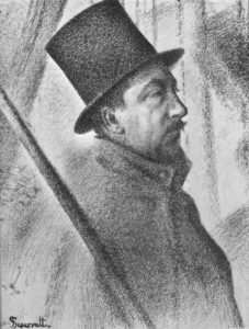 Georges Seurat Portrait of Paul Signac, 1890,