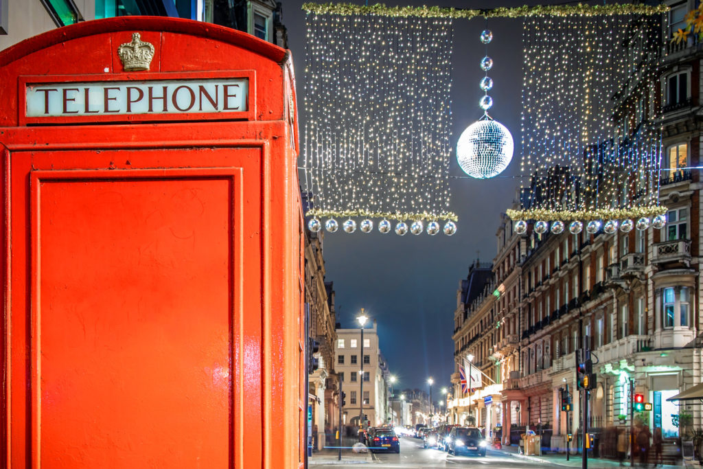 Marylebone in Prime Central London decorated for Christmas