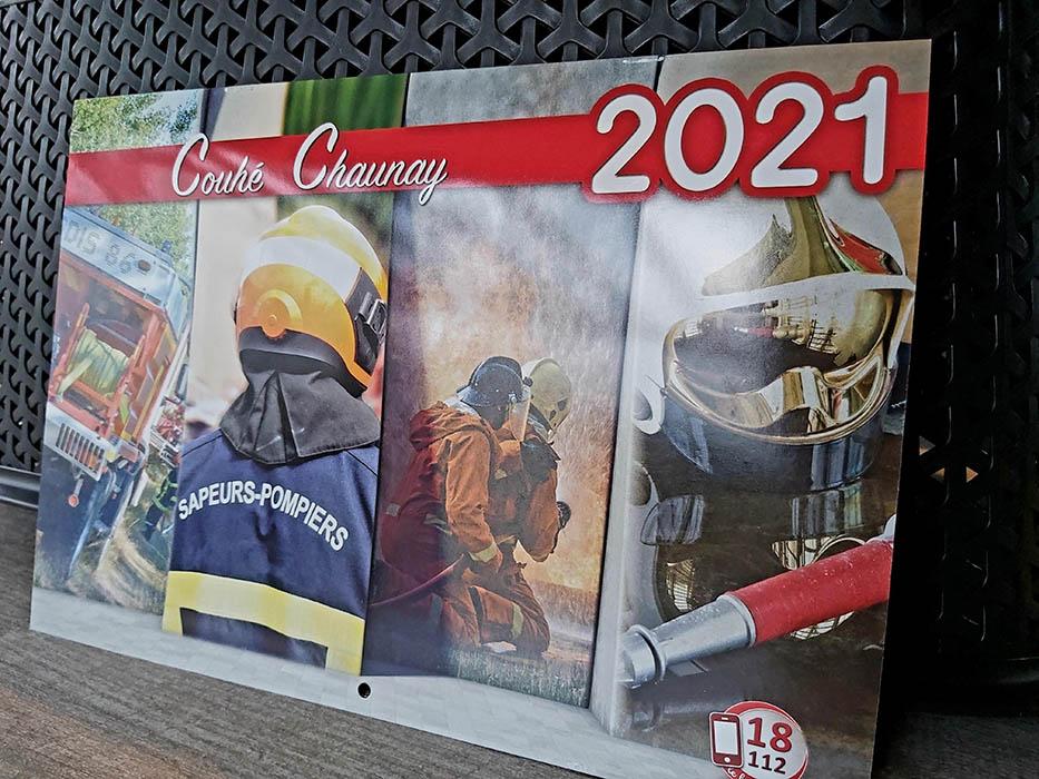 Retrouvez-nous en 2021 sur le calendrier des Pompiers de Couhé et Chaunay.