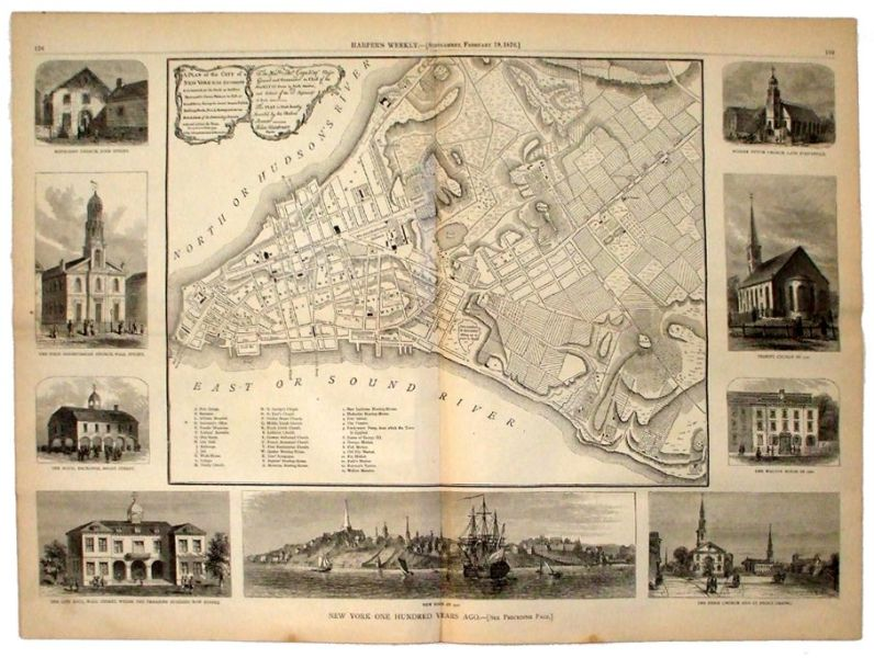 Lot Detail   1775 John Montresor Map of New York City 1775 John Montresor Map of New York City