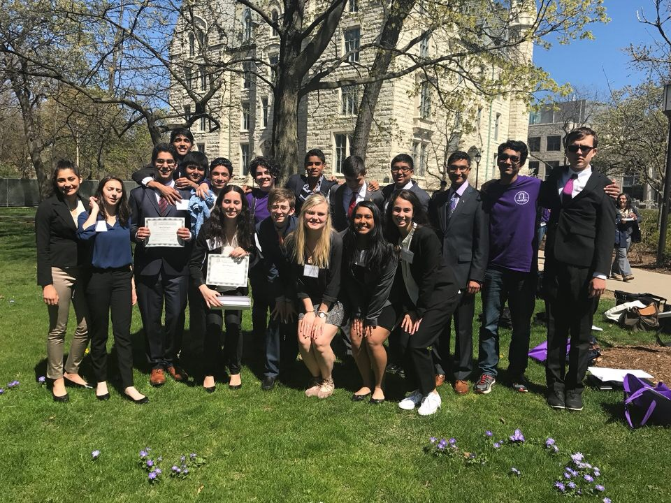 Central's Model UN team attended the Northwestern Model UN conference this following weekend, April 20-22.