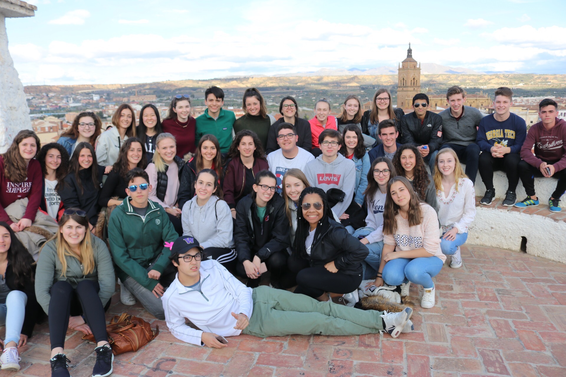Spanish students took at foreign exchange trip to Guadix, Spain for spring break.