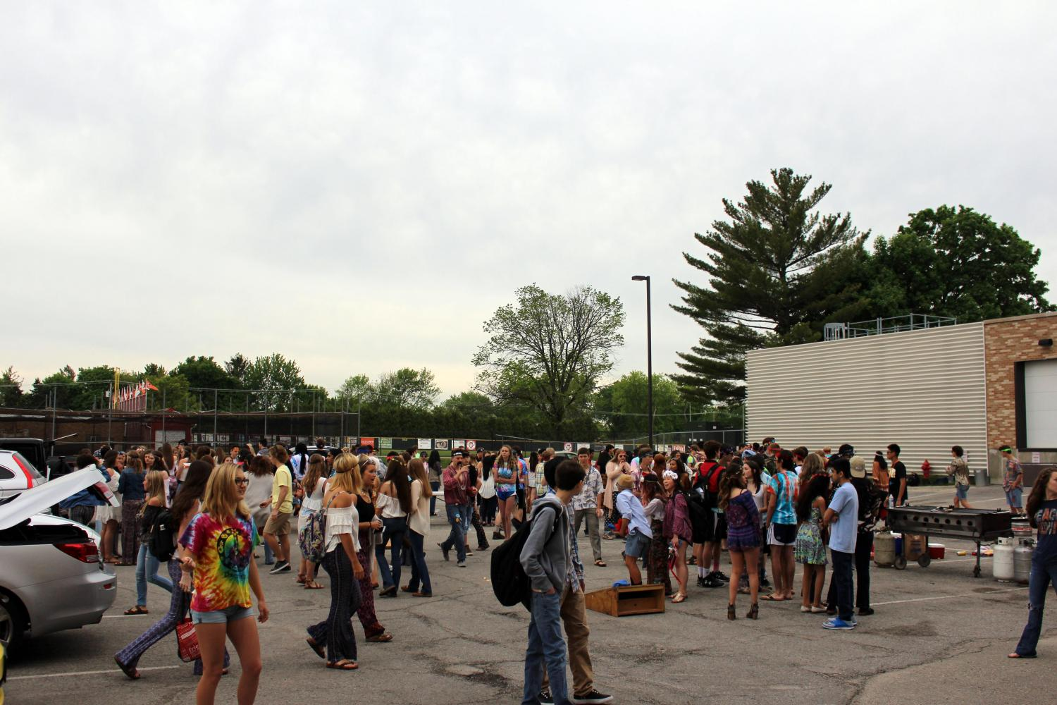The tailgate brings the incoming senior class together as a way to kick off the final year of high school.  Last year the theme was Woodstock, but this year it will be USA.