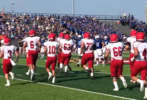 The football team took the field at St. Xavier High School in Cincinnati on Aug. 26.