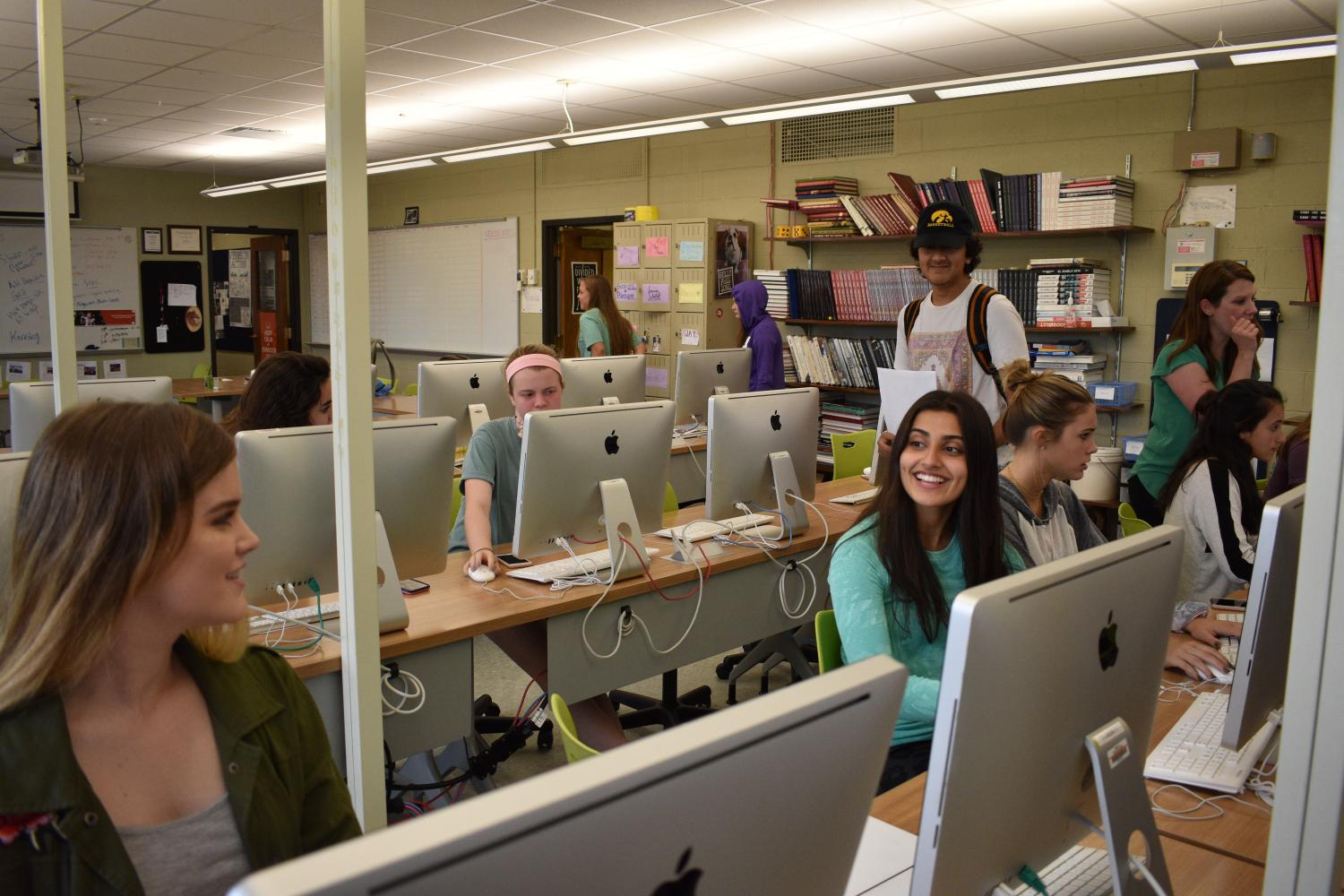 The El Diablo staff worked on the yearbook until 5:30 p.m. on Oct. 3, revising their sections, sharing feedback, hanging out with each other, and celebrating their first deadline.