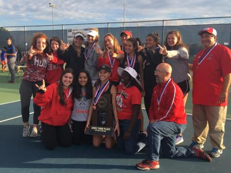 Girls varsity tennis takes third at State