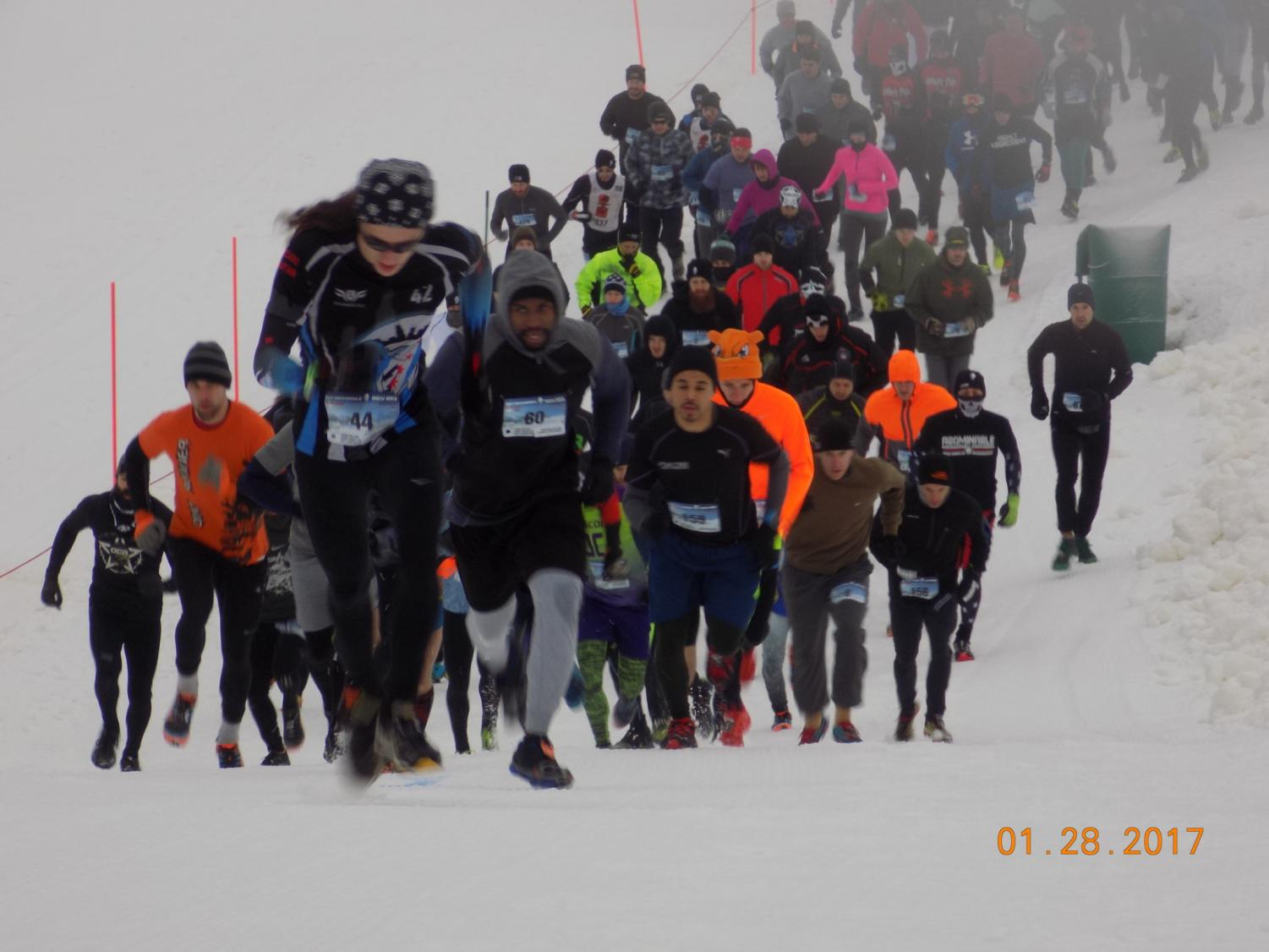 Participants take part in the 2017 Abominable Snow Race. As the 2018 race approaches, students look forward to participating.