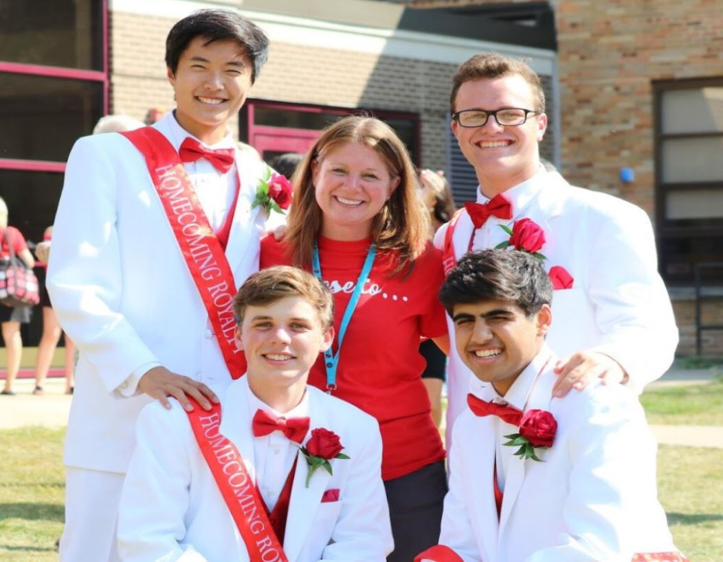 Mrs. Sally Phillip, activities director, plans and attends almost all school events, such as the homecoming festivities in the fall.