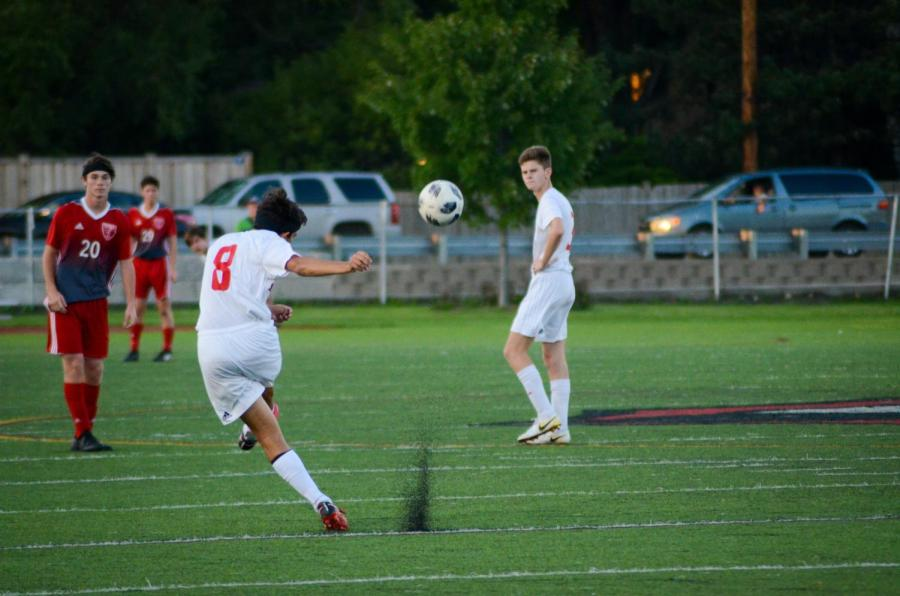 On+Friday%2C+Sept.+14+Varsity+Boys+Soccer+played+against+Naperville+Central+on+Dickinson+Field.+The+Red+Devils+won+with+a+score+of+1-0.+