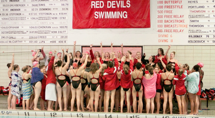 Girls%27+Swim+%26+Dive+does+not+get+to+compete+in+the+school%27s+facilities+due+to+state+standards+for+pool+depth+and+size.+