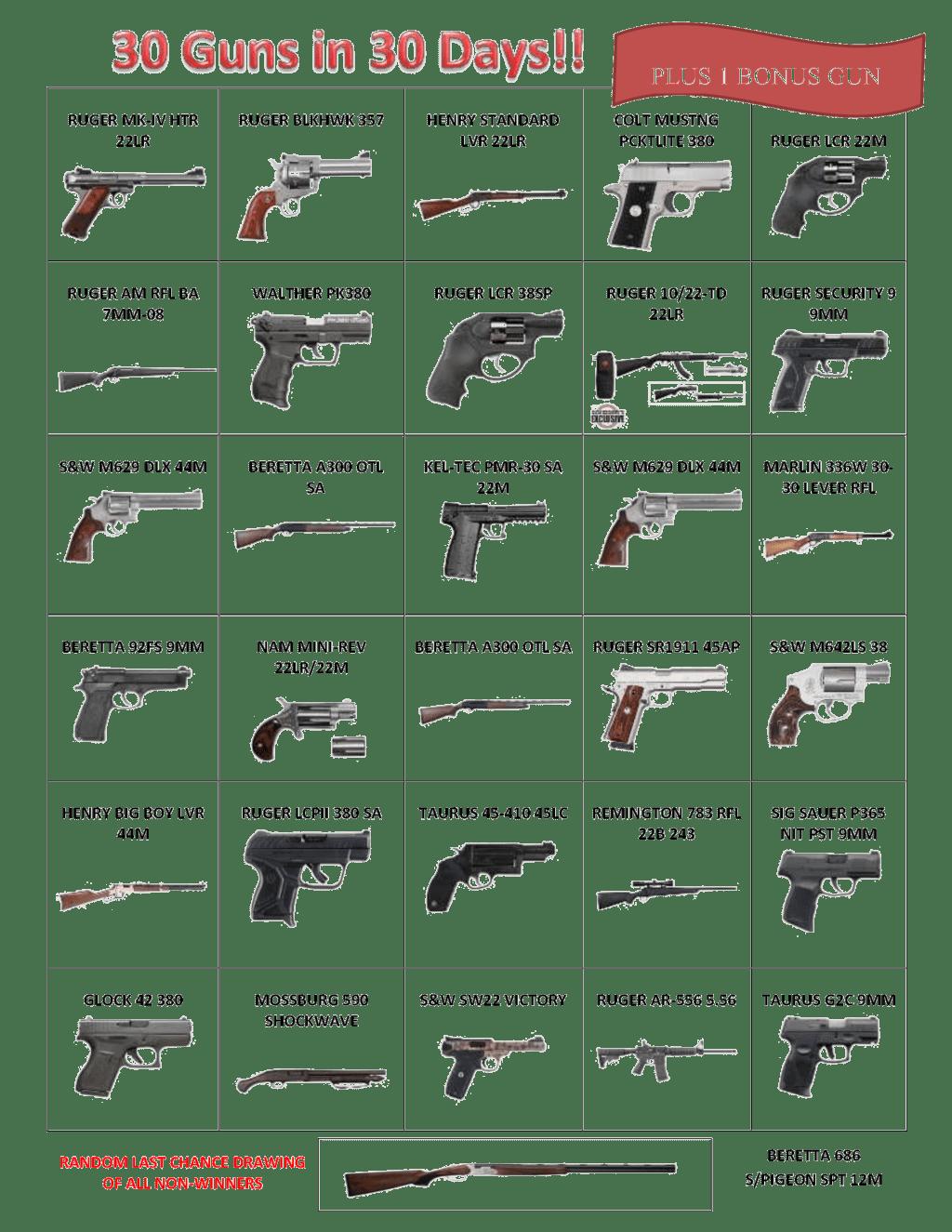 30 Guns in 30 Days
