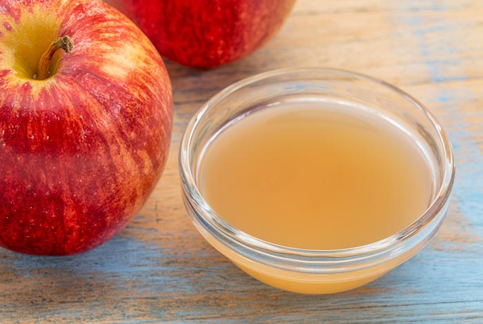 Apple cider vinegar as condiment