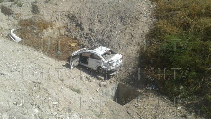 Conductor se salió de la vía tras ser impactado por un motociclista en carretera a San Lorenzo