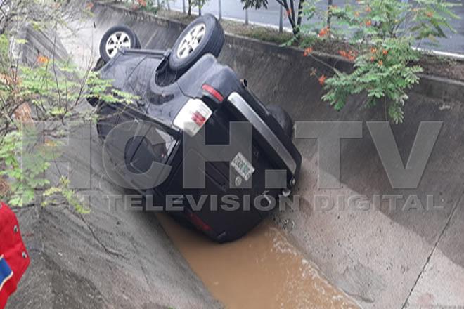 ¡Se va al túnel desagüe! tras accidentarse en col. Las Mesetas #SPS - hch.tv