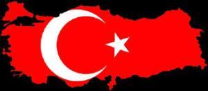 Drapeau et territoire Turc