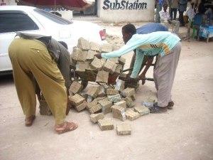 argent somalien en brouette