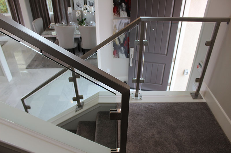 Contemporary Railings Hci Railing Systems | Glass Hand Railing Design | Fancy | Street Railing | Commercial | Outdoor | Glass Etching