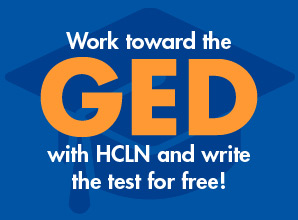 Work toward the GED with HCLN and write the test for free!