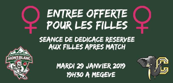 Mont-Blanc vs Chambéry : entrée offerte pour les filles